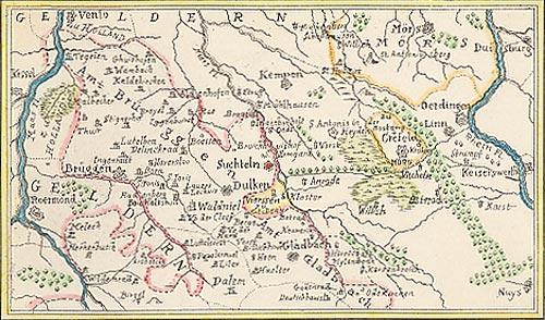 Karte Niederrhein.Plan